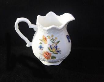 Vintage Aynsley Fine Bone China Miniature Jug in the Cottage Garden pattern