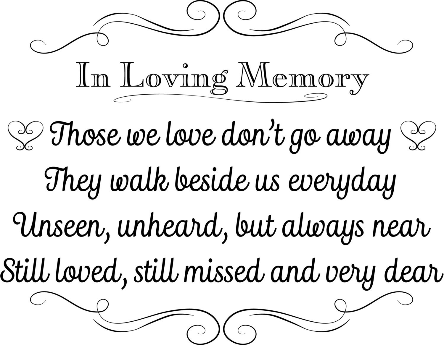 Printable wedding sign in loving memory instant download 3 for In loving memory templates free