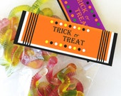 Halloween Printable Candy Bag Topper, Instant Download Printable Halloween Treats Bag Topper, Trick Or Treat Candy Toppers