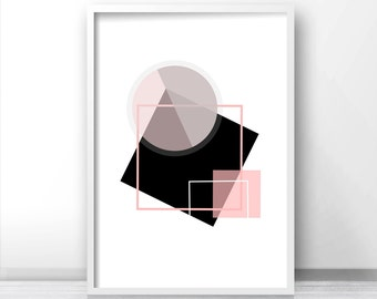 Instant Download Printable Art, Modern Wall Art Print, Digital Download Art, Abstract Geometric Print, Printable Home Decor Art, Wall Print