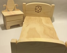 Barbie Bedroom Set - Doll Furniture - Barbie Furniture - Blythe Furniture