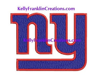 New York GIANTS Embroidery file 7 SIZES!