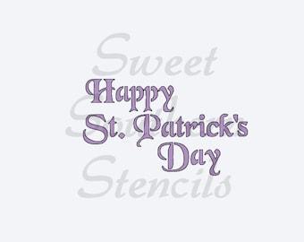 Happy St. Patrick's Day Stencil