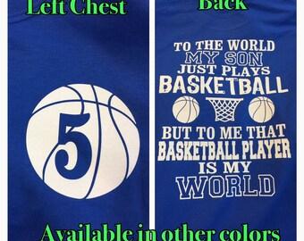 basketball mom shirt basketball shirt to me that basketball player is my world