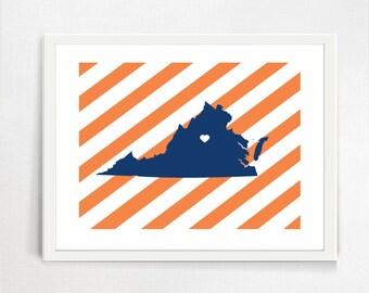 Charlottesville  University of Virginia Map Art