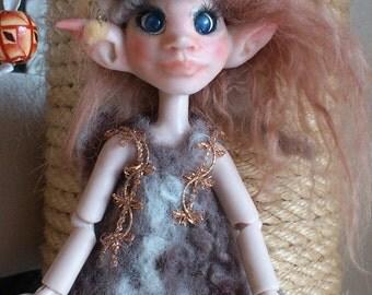 OOAK BJD Art Doll Fairy Elv Amie