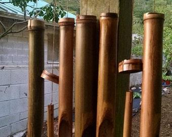 Hawaiian grown bamboo wind chimes, #10 in series