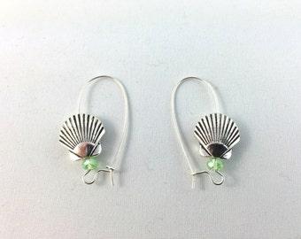 Seashell Earrings -Sea Shell Earrings - Seaside Jewelry