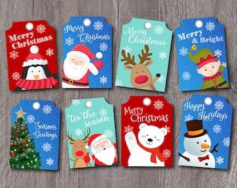 Christmas Tags, Holiday Gift Tags, Printable Tags, Christmas Printables, DIY Prints, Instant Download, Digital Files