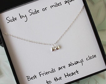 Thoughtful Wedding Gifts For Friends : ... necklace double heart necklace best friend gift gifts for her 20 00