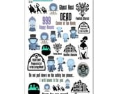 Haunted Mansion Stickers - Disney Planner Stickers