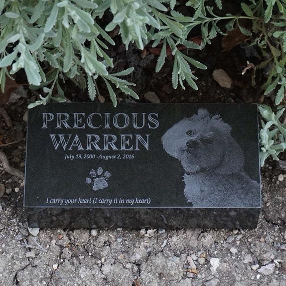 Dog Memorial Plaque Black And White