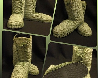 Crochet Combat boots **military boots inspired**