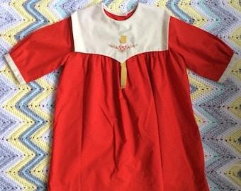 20% Summer Sale Red 1970's Dress Girls Size 6