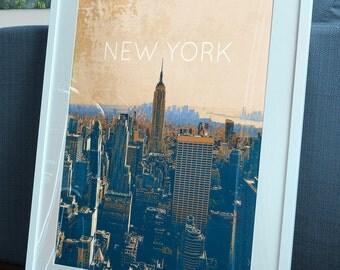 New York City Skyline Poster 11x17 18x24 24x36 Single/2-Pack