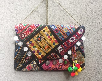 Banjara Vintage Clutch Bag, Vintage Bag, Oversized Clutch Bag, Gypsy Clutch, Boho Clutch called Nova