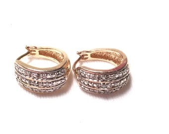 Gold over 925 sterling silver earrings