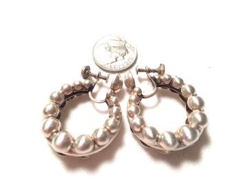 Vintage monet 925 sterling silver screw back earrings