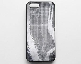 Manhattan Map iPhone 6 Case iPhone 6s Case iPhone 6 Plus Case iPhone 6s Plus Case NYC iPhone 5s Case iPhone 5 Case New York iPhone 5c Case