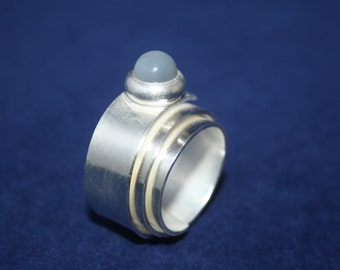 Ring Silver Wrapping Ring Moon Stone