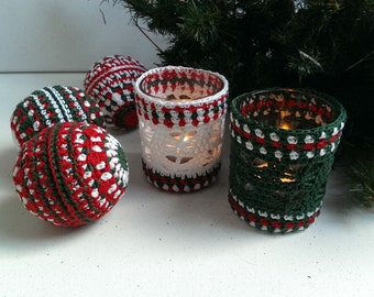 Christmas Tealight Holder crochet pattern