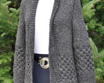 Charcoal Tweed Cardigan