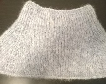 soft blue/grey wool neckwarmer soft wraps