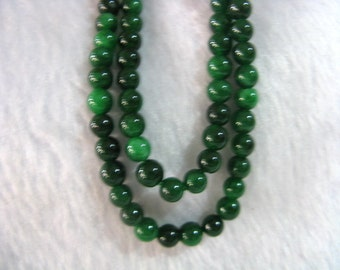 Free shipping Engaging Natural Green Jadeite necklace
