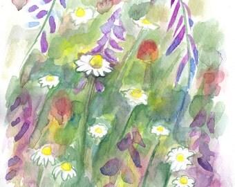 Digital print watercolor flowers, print watercolor flower, art print watercolor, Floral Digital Print,  painting print, home decor print