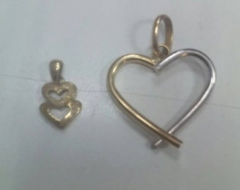 Two solid gold pendants 18 k