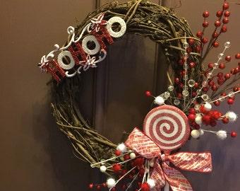 Lollipop christmas wreath