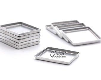 10pc/Set - Dollhouse Miniatures Metal Silver Bakery Tray