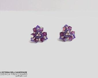 Stud earrings with Swarovski