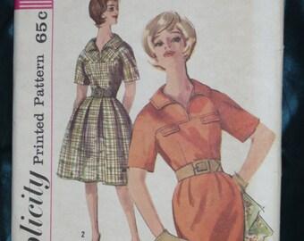 1960s Simplicity 4025 Yoke Dress Sz 16 Bust 36