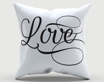 Customized Throw Pillow - Love Pillow - Valentine Pillow - Decorative Pillow -  Decorative cushion  - Valentine Gift