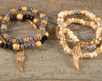 Beautiful Feather Charm-Set