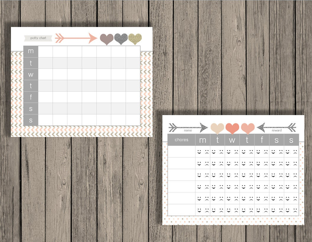 kids charts chore chart behavior chart rules chart potty kids charts chore chart behavior chart rules chart potty training chart daily kid schedule kids chart printable pink heart design