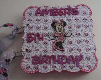 Minnie Mouse Inspired Birthday Album