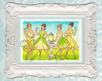 Lemonade - Fashion Illustration Print