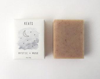 Mystic + Muse. Cinnamon + Sweet Orange Soap. All Natural, Organic, Vegan, Acne-Prone Skin.