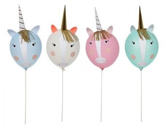 Balloons | Unicorn Balloons | Unicorn Party | Unicorn Balloon Kit | Party Balloons | Unicorn | Balloons | 4 Per Pack