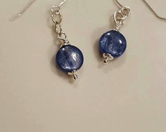 Gorgeous Blue Kyanite and Sterling Silver Earrings