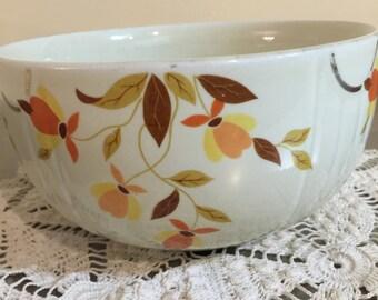 Vintage Hall Autumn Leaf Superior Quality Kitchenware | Mary Dunbar | Jewel Tea | Made in USA | 1930s Era | Serving Bowl | Ohio