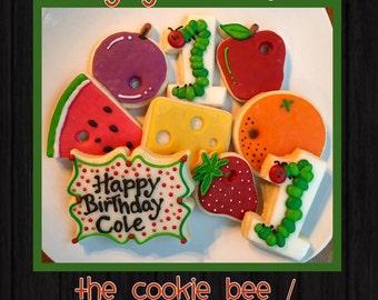 Hungry Caterpillar Sugar Cookies
