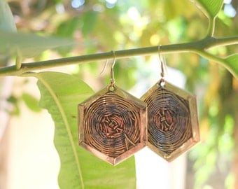 Brass Copper Steel Wire Earring