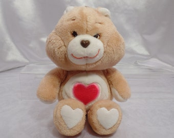 """Original Care Bears Stuffed Plush by Kenner American Greetings First Generation Those Characters from Cleveland-1983-13"""" -Tenderheart Bear"""