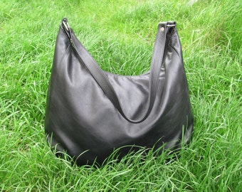 Leather bag  Leather tote bag Black Leather bag Shoulder bag  Woman bag Summer bag Genuine leather Handmade Handbag Gift for her woman