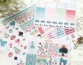 """Erin Condren Vertical """"Alice"""" XL Weekly Planner Sticker Kit"""