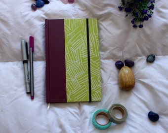 Hardcover notebook/journal - Green and Marsalla