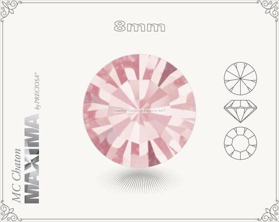 6 pc.+ SS39 (8mm) Preciosa MC Chaton MAXIMA - Light Rose Color